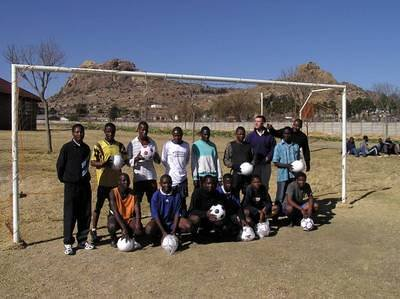 Lesotho - SOS soccer team with donated balls.jpg
