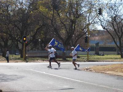 Running through Pretoria